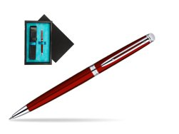 Waterman Hémisphère Red CT Ballpoint Pen  single wooden box  Black Single Turquoise