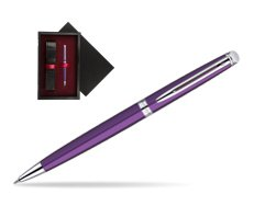 Waterman Hémisphère Purple CT Ballpoint Pen  single wooden box  Black Single Maroon
