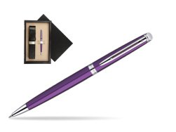 Waterman Hémisphère Purple CT Ballpoint Pen  single wooden box  Wenge Single Ecru