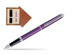Waterman Hémisphère Rosewood CT Fountain Pen in single wooden box  Mahogany Single Ecru