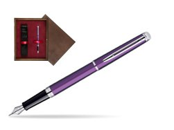 Waterman Hémisphère Rosewood CT Fountain Pen in single wooden box  Wenge Single Maroon