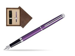 Waterman Hémisphère Rosewood CT Fountain Pen in single wooden box  Wenge Single Ecru