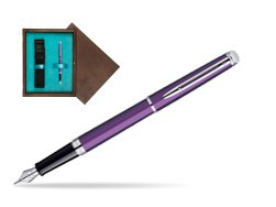 Waterman Hémisphère Rosewood CT Fountain Pen in single wooden box  Wenge Single Turquoise