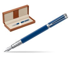 Waterman Perspective Blue Obsession CT Fountain Pen  in classic box brown