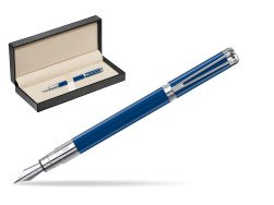 Waterman Perspective Blue Obsession CT Fountain Pen  in classic box  pure black