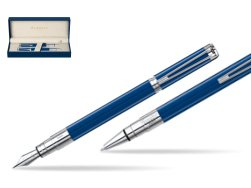 Waterman Perspective Blue Obsession CT Fountain Pen + Waterman Perspective Blue Obsession CT Ballpoint Pen