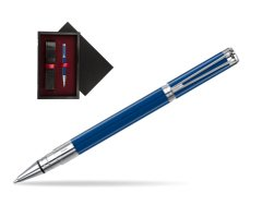 Waterman Perspective Blue Obsession CT Rollerball Pen  single wooden box  Black Single Maroon