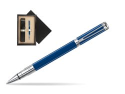 Waterman Perspective Blue Obsession CT Rollerball Pen  single wooden box  Wenge Single Ecru