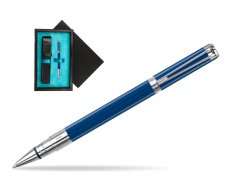 Waterman Perspective Blue Obsession CT Rollerball Pen  single wooden box  Black Single Turquoise