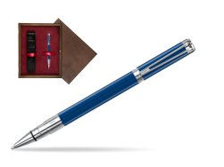 Waterman Perspective Blue Obsession CT Rollerball Pen in single wooden box  Wenge Single Maroon