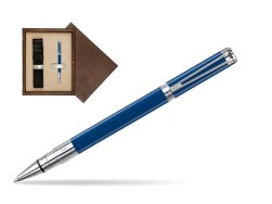 Waterman Perspective Blue Obsession CT Rollerball Pen in single wooden box  Wenge Single Ecru