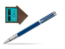 Waterman Perspective Blue Obsession CT Rollerball Pen in single wooden box  Wenge Single Turquoise