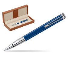 Waterman Perspective Blue Obsession CT Ball Point Pen  in classic box brown