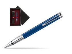 Waterman Perspective Blue Obsession CT Ball Point Pen  single wooden box  Black Single Maroon