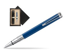 Waterman Perspective Blue Obsession CT Ball Point Pen  single wooden box  Wenge Single Ecru