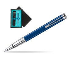 Waterman Perspective Blue Obsession CT Ball Point Pen  single wooden box  Black Single Turquoise