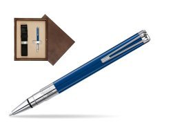 Waterman Perspective Blue Obsession CT Ball Point Pen in single wooden box  Wenge Single Ecru