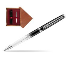 Waterman Hemisphere Ombres & Lumieres CT Ballpoint pen in single wooden box Mahogany Single Maroon