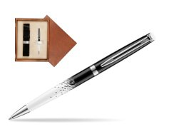 Waterman Hemisphere Ombres & Lumieres CT Ballpoint pen in single wooden box  Mahogany Single Ecru