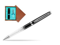 Waterman Hemisphere Ombres & Lumieres CT Ballpoint pen in single wooden box  Mahogany Single Turquoise