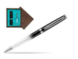 Waterman Hemisphere Ombres & Lumieres CT Ballpoint pen in single wooden box  Wenge Single Turquoise