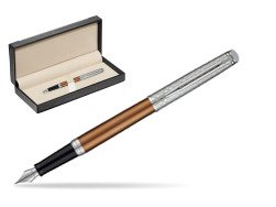 Waterman Hemisphere Privée Bronze Satiné Fountain Pen  in classic box  black