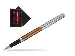 Waterman Hemisphere Privée Bronze Satiné Fountain Pen  single wooden box  Black Single Maroon