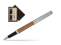 Waterman Hemisphere Privée Bronze Satiné Fountain Pen  single wooden box  Wenge Single Ecru