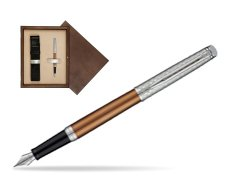 Waterman Hemisphere Privée Bronze Satiné Fountain Pen in single wooden box  Wenge Single Ecru