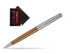 Waterman Hemisphere Privée Bronze Satiné Ballpoint Pen  single wooden box  Black Single Maroon