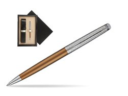 Waterman Hemisphere Privée Bronze Satiné Ballpoint Pen  single wooden box  Wenge Single Ecru