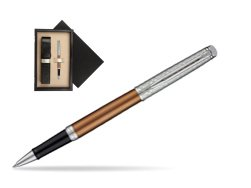 Waterman Hemisphere Privée Bronze Satiné Rollerball Pen  single wooden box  Wenge Single Ecru