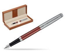 Waterman Hemisphere Privée Rose Cuivré Fountain Pen  in classic box brown