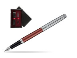 Waterman Hemisphere Privée Rose Cuivré Fountain Pen  single wooden box  Black Single Maroon