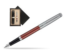 Waterman Hemisphere Privée Rose Cuivré Fountain Pen  single wooden box  Wenge Single Ecru