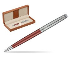 Waterman Hemisphere Privée Rose Cuivré Ballpoint Pen  in classic box brown