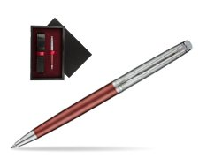 Waterman Hemisphere Privée Rose Cuivré Ballpoint Pen  single wooden box  Black Single Maroon