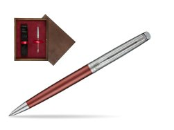 Waterman Hemisphere Privée Rose Cuivré Ballpoint Pen in single wooden box  Wenge Single Maroon