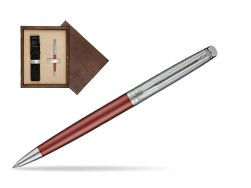 Waterman Hemisphere Privée Rose Cuivré Ballpoint Pen in single wooden box  Wenge Single Ecru