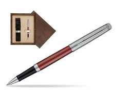 Waterman Hemisphere Privée Rose Cuivré Rollerball Pen in single wooden box  Wenge Single Ecru