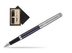 Waterman Hemisphere Privée Saphir Nocturne Fountain Pen  single wooden box  Wenge Single Ecru