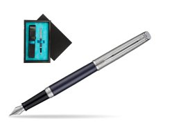 Waterman Hemisphere Privée Saphir Nocturne Fountain Pen  single wooden box  Black Single Turquoise