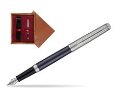 Waterman Hemisphere Privée Saphir Nocturne Fountain Pen in single wooden box Mahogany Single Maroon
