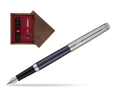 Waterman Hemisphere Privée Saphir Nocturne Fountain Pen in single wooden box  Wenge Single Maroon