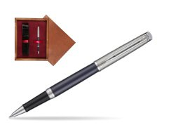 Waterman Hemisphere Privée Saphir Nocturne Rollerball Pen in single wooden box Mahogany Single Maroon