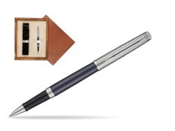 Waterman Hemisphere Privée Saphir Nocturne Rollerball Pen in single wooden box  Mahogany Single Ecru