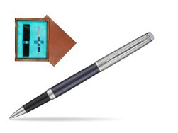 Waterman Hemisphere Privée Saphir Nocturne Rollerball Pen in single wooden box  Mahogany Single Turquoise