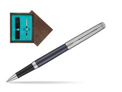 Waterman Hemisphere Privée Saphir Nocturne Rollerball Pen in single wooden box  Wenge Single Turquoise