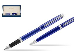 Waterman Fountain Pen + Ballpoint Pen Hémisphère 2018 Bright Blue CT