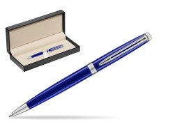 Waterman Hemisphere 2018 Bright Blue Ballpoint pen  in classic box  pure black